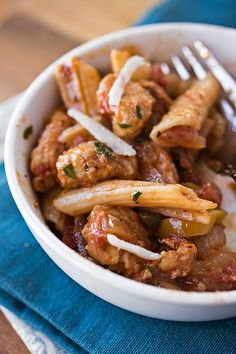 """Chicken """"Picca-Tore"""" Pasta with Tomatoes, Yellow Bell Peppers, Onions, Garlic and Capers with Wine and Fresh Herbs"""