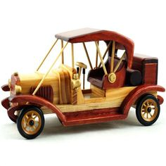 how to make wooden miniature car Wooden Car, Wooden Toys, Miniature Cars, Cool House Designs, Wood Turning, Home Goods, Carving, Classic, Red