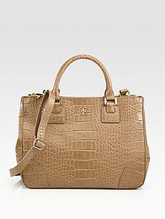 7a922a70e3ab Gorgeous Tory Burch Robinson Crocodile Embossed Leather Tote Outfit Maker
