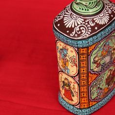 Recycled Bottle With Pattachitra Art (Krishna's Life)