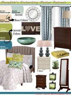 Enchanting Master Suite Concept Board {Linkup!}
