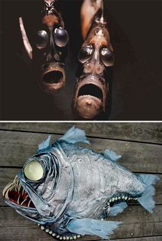 7 (More!) Weird Wonders of the Marine Animal World Weird Sea Creatures Hatchetfish Weird Sea Creatures, Ocean Creatures, Beautiful Creatures, Scary Fish, Weird Fish, Underwater Creatures, Underwater Life, The Ocean, Creepy Animals