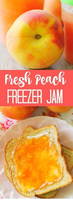 How to make fresh peach freezer jam. Fresh Peach Freezer Jam How to make fresh peach freezer jam. Peach Freezer Jam, Freezer Jam Recipes, Jelly Recipes, Canning Recipes, Fruit Recipes, Freezer Meals, Freezer Cooking, Freezer Desserts, Nutella Recipes