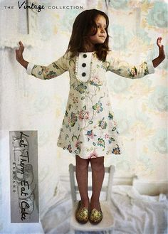 vintage children fashion- now, If only kids had no opinions of their own and you could dress them up like dolls...