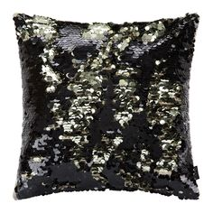 Discover the A by Amara Changing Sequin Cushion - 40x40cm - Black/Gold at Amara
