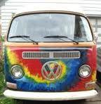 tie dye VW bus