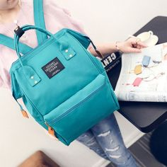 c3e0e8b6fb A ring backpack canvas school printing ring bag backpack women s vintage  brand male women backpack youth bag