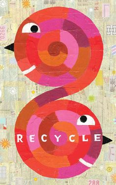 Poster on recycling for elementary and middle schools across the United States / Noah Woods / noahwoods.com