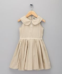 Save Now on this Beige Print Hepburn Dress - Infant, Toddler & Girls by La faute à Voltaire on today! Little Girl Fashion, My Little Girl, Kids Fashion, Little Girl Dresses, Girls Dresses, Toddler Outfits, Kids Outfits, Moda Kids, Kid Styles
