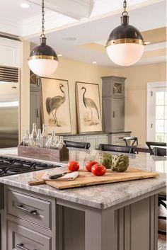 "Kitchen Pendant Lighting Ideas. Kitchen Pendant Lighting are the ""Large Hicks Pendant"" from Circa Lighting. #Kitchen #Pendant #Lighting Ideas"