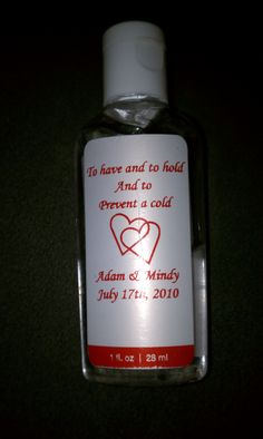 Hand Sanitizer Wedding Favor  :