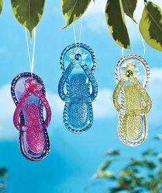 Set of 3 Flip-Flop Sun Catchers - LTD Commodities