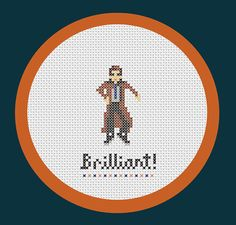 The 10th Doctor (David Tennant) - Doctor Who inspired PDF cross stitch pattern