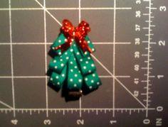 #Hair bow Christmas Tree Hair Bow Tutorial
