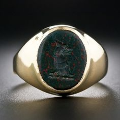 Gent's Bloodstone Intaglio Ring - 30-1-5079 - Lang Antiques