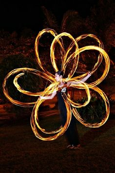 Learning resource for spinning poi.