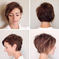 cute layered long pixie cut