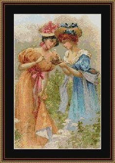 Maidens - Counted Cross Stitch