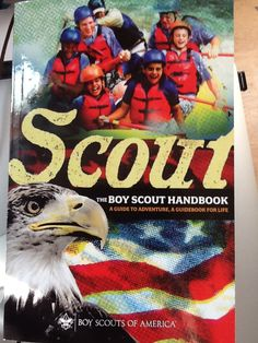 Official Boy Scout Handbook display face is Emigre's Fairplex by Zuzana Licko. It's the face of their website also! http://bsahandbook.org/