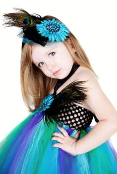 Peacock Couture Princess Custom Tutu Jeweled by PoshBabyGirlTutus