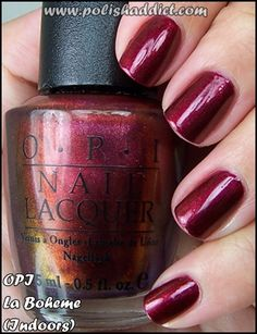 OPI La Boheme-one of my favorite colors, ever. So sad they discontinued :(