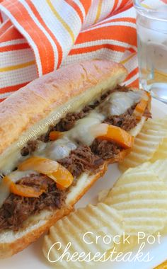Crock Pot Cheesesteaks Recipe ~ The meat is full of flavor and turns out juicy and tender.