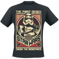 Star Wars  T-Shirt  »Episode 7 - The Force Awakens - Crush The Resistance« | Buy now at EMP | More Fan merch  T-shirts  available online ✓ Unbeatable prices!
