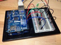 Aufbau der Schaltung auf Breadboard und Arduino
