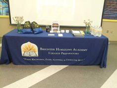 Promotional Products on display at Brighter Horizons Academy open house.