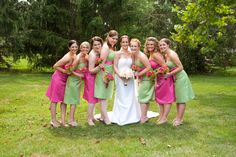 Bridesmaid dresses...perfect colors for a July wedding.