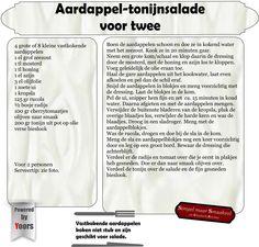 Aardappel-tonijnsalade voor twee