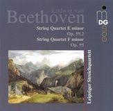 Beethoven: String Quartet E minor, Op. 59/2; String Quartet F minor, Op. 95 [CD]