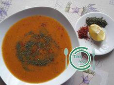 A híres török vörös lencse leves! Thai Red Curry, Ethnic Recipes, Soups, Soup