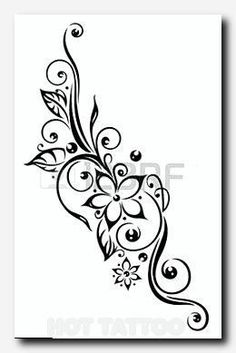 Photo about Black flowers illustration, tribal tattoo style. Illustration of bla… Photo about Black flowers illustration, tribal tattoo style. Illustration of black, blossoming, creative – 33938839 Back Of Leg Tattoos, Cover Up Tattoos, Body Art Tattoos, Sleeve Tattoos, Shoulder Tattoos, Neck Tattoos, Small Tattoos, Bow Tattoos, Turtle Tattoos