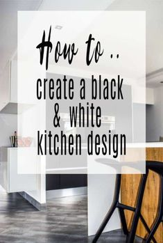 How to make a Black & White Kitchen - Some Useful Tips for Stylish Kitchen Design and Decor that you will love with these top interior design trend ideas Kitchen Colour Schemes, Kitchen Colors, Kitchen Decor, Black And White Tiles, Black White, Living Room Halloween Decor, Cheap Kitchen Updates, Interior House Colors, Interior Design