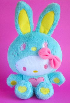 Hello Kitty bunny so cute Sanrio Hello Kitty, Hello Kitty Plush, Here Kitty Kitty, Hello Kitty Pictures, Hello Kitty Collection, Kawaii, Sanrio Characters, Little Twin Stars, Eeyore