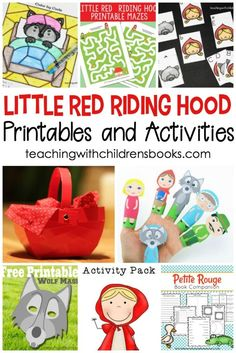 Little Red Riding Hood is a fun fairy tale to read with kids. This collection of Little Red Riding Hood story printable activities is a great way to bring the story to life. #teachwithbooks #picturebooks #kidsbooks #littleredridinghood #homeschooling #iteachtoo