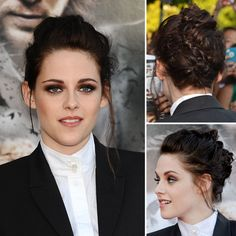 Kristen Stewart's Braided Mohawk Updo - Obsessed with this hairstyle