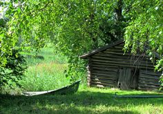 Suomi - Finland (I miss the log barns and smokehouses that used to be all over rural Florida.)