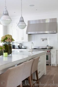Clean white kitchen, New Canaan CT Interiors: Stirling Mills Design.