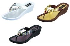 26743E Grandco Butterfly Wedge Thong ** For more information, visit image link.