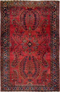 Antique Sarouk Oriental Rug C53D5991