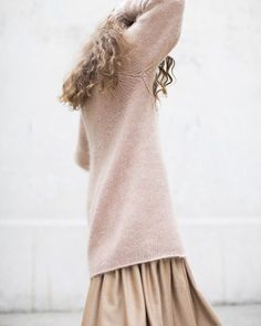 Ryan Roche Ribbed Oversized Basic Pullover in Rose Vintage Bohemian, Pink Sweater, Rib Knit, Cashmere, Vogue, Pullover, Fashion Outfits, Store Online, My Style