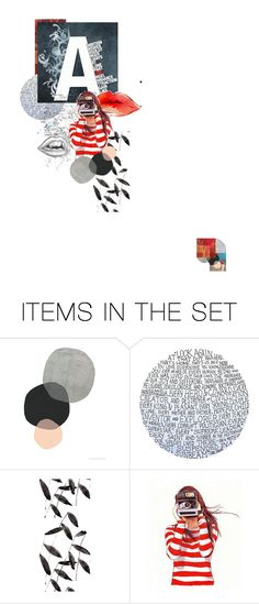 """Type Art Collage 1"" by po8grl ❤ liked on Polyvore featuring art, graphicdesign, illustration and typography"