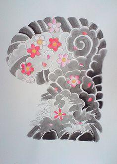 Japanese tattoo flash, sakuras,...