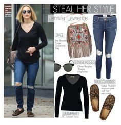 """""""Steal Her Style-Jennifer Lawrence"""" by kusja ❤ liked on Polyvore featuring Oliver Peoples, Isabel Marant, FTC, Etro, Frame Denim, Stealherstyle, jenniferlawrence and celebstyle"""