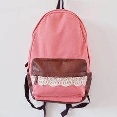 Backpacks with Lace Accents | Gift Idea of the Day | Pinterest ...