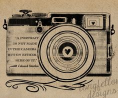 Edward Steichen Quote - Retro Camera - Kraft / Grain Look 11 x 14 Print. $20.00, via Etsy.