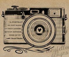 Edward Steichen Quote - Retro Camera - Kraft / Grain Look 11 x 14 Print. $20.00, via Etsy.