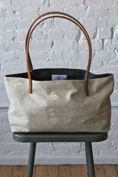 Painter's Drop Cloth Tote Bag from forest bound.com